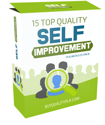 15 Top Quality Self Improvement PLR Articles