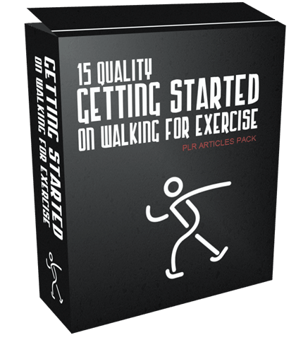 15 Quality Getting Started on Walking for Exercise PLR Articles Pack
