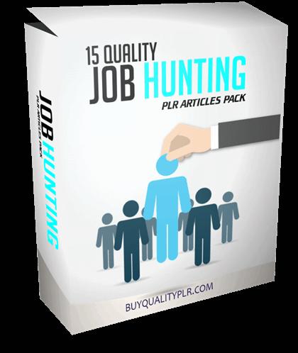 15 Quality Job Hunting PLR Articles Pack