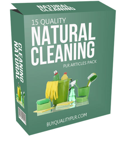 15 Quality Natural Cleaning PLR Articles Pack