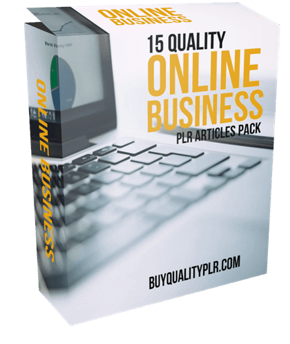 15 Quality Online Business PLR Articles Pack