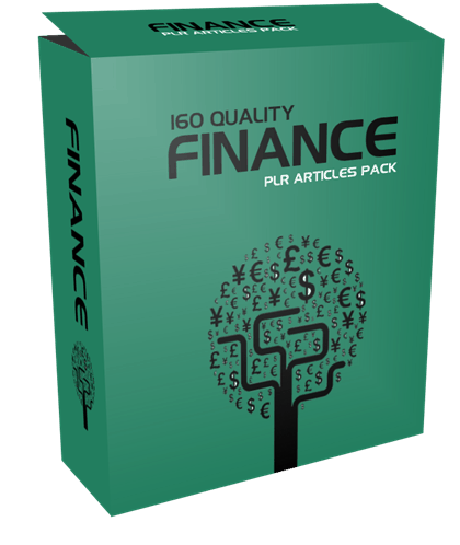 160 Quality Finance PLR Articles Pack