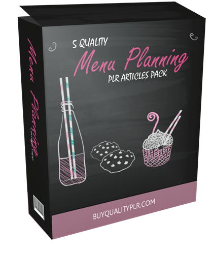 5 QUALITY MENU PLANNING PLR ARTICLES PACK