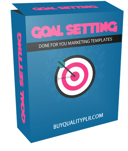 Goal Setting Done For You Marketing Templates