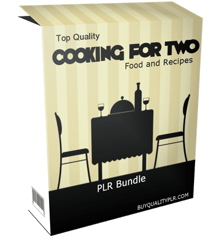 Top Quality Cooking For Two Food and Recipes PLR Bundle