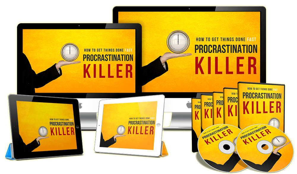 Procrastination Killer Sales Funnel with Master Resell Rights