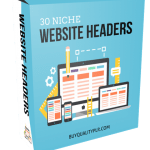 30 Niche Website Headers with PSDs PLR Pack