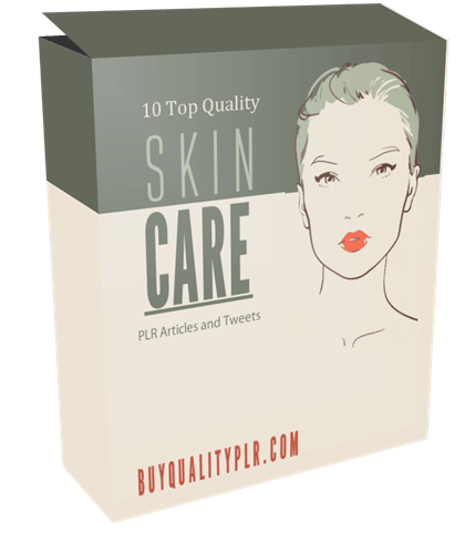 10 Top Quality Skin Care PLR Articles and Tweets Pack