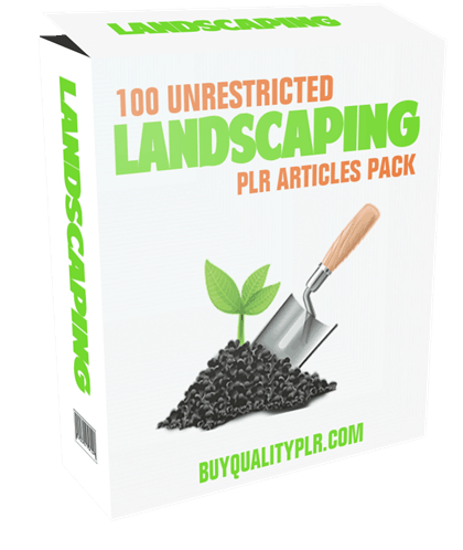 100 Unrestricted Landscaping PLR Articles Pack
