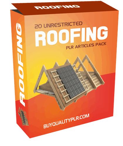 20 Unrestricted Roofing PLR Articles Pack