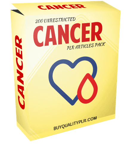 200 Unrestricted Cancer PLR Articles Pack