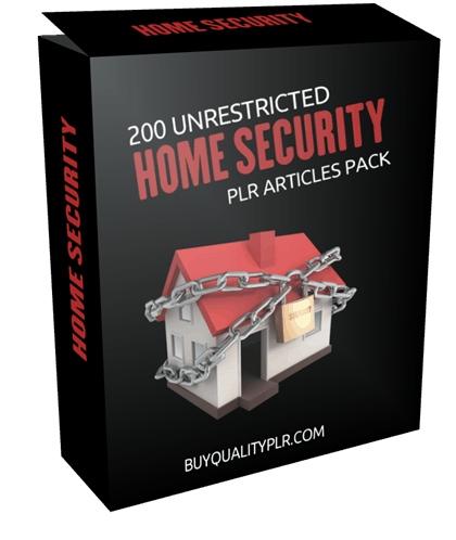 200 Unrestricted Home Security PLR Articles Pack