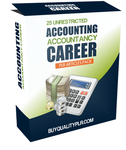 25 Unrestricted Accounting Accountancy Career PLR Articles Pack