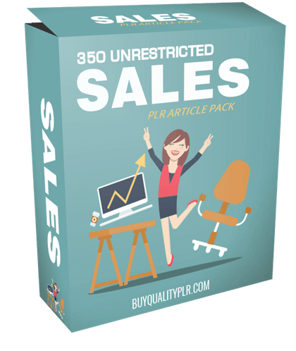 350 Unrestricted Sales PLR Articles Pack