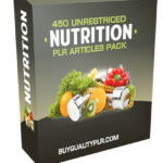 450 Unrestricted Nutrition PLR Articles Pack