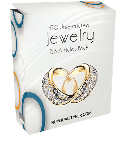 470 Unrestricted Jewelry PLR Articles Pack