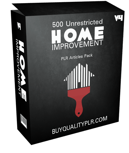 500 Unrestricted Home Improvement PLR Articles Pack V4