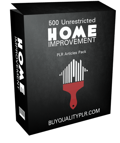 500 Unrestricted Home Improvement PLR Articles Pack