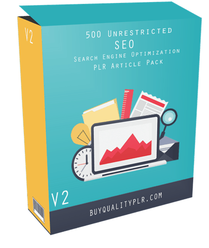 500 Unrestricted SEO PLR Articles Pack V2