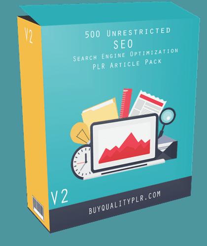 500 Unrestricted SEO PLR Articles Pack V2