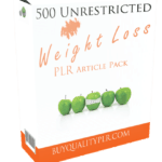500 Unrestricted Weight Loss PLR Articles Pack