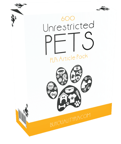 600 Unrestricted Pets PLR Articles Pack