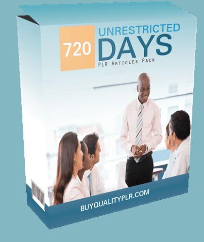 720 Unrestricted Management PLR Articles Pack
