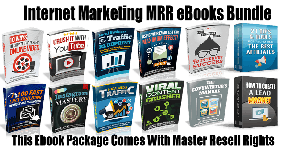 Internet marketing master resell rights ebooks packg 10 ways to create the perfect online video fandeluxe Choice Image