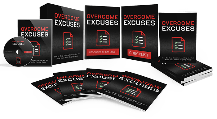 Overcome Excuses Sales Funnel with Master Resell Rights