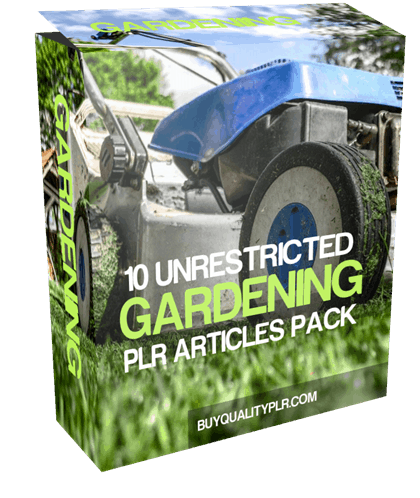 10 Unrestricted Gardening PLR Articles Pack