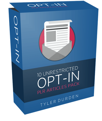 10 Unrestricted Opt-In PLR Articles Pack