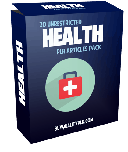 20 Unrestricted Health PLR Articles Pack