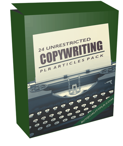 24 Unrestricted Copywriting PLR Articles Pack
