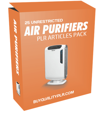 25 Unrestricted Air Purifiers PLR Articles Pack