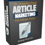 25 Unrestricted Articles Marketing PLR Articles Pack