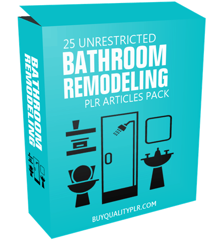 25 unrestricted bathroom remodeling plr articles pack for Bathroom remodeling articles