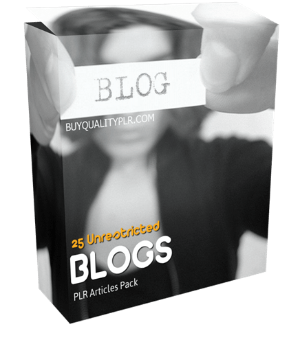 25 Unrestricted Blogs PLR Articles Pack