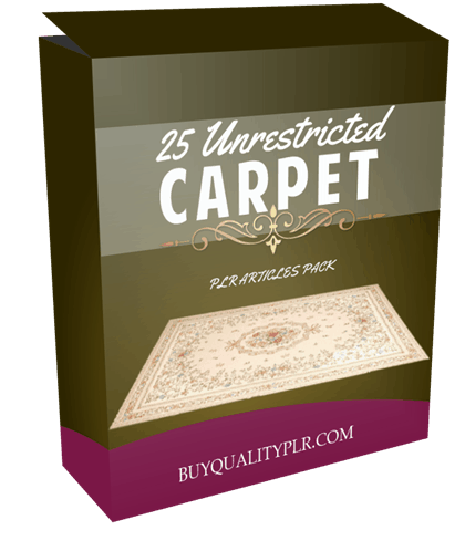25 Unrestricted Carpet PLR Articles Pack