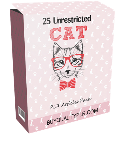 25 Unrestricted Cats PLR Articles Pack