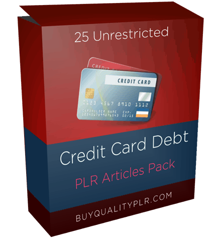 25 Unrestricted Credit Card Debt PLR Articles Pack