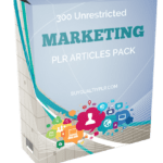 300 Unrestricted Marketing PLR Articles Pack