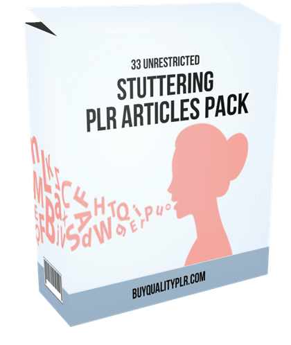 33 Unrestricted Stuttering PLR Articles Pack