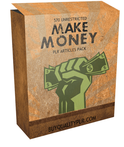 570 Unrestricted Make Money PLR Articles Pack