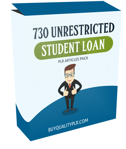 730 Unrestricted Student Loan PLR Articles Pack