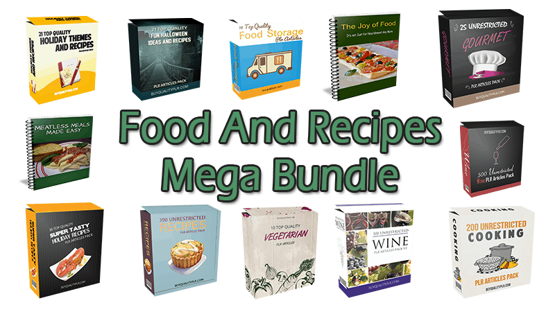 Food And Recipes Mega Bundle (Over 70% Discount)