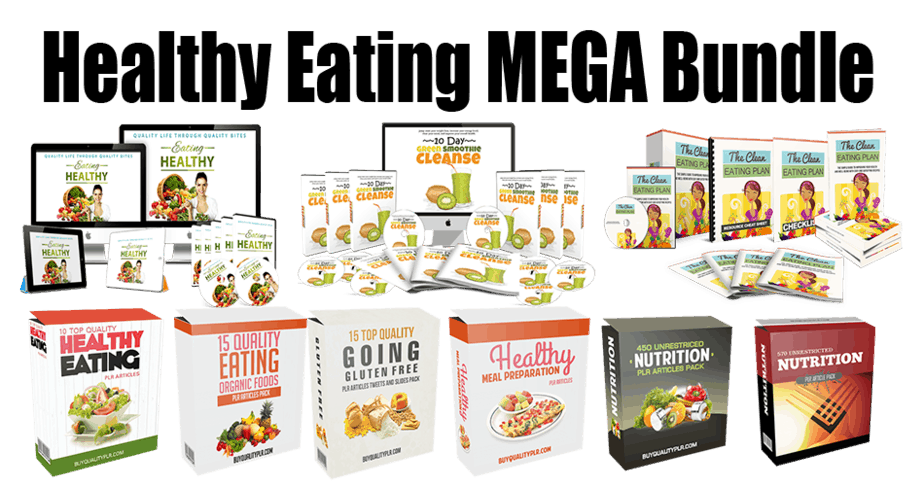 Healthy Eating Mega Bundle (Over 70% Discount)