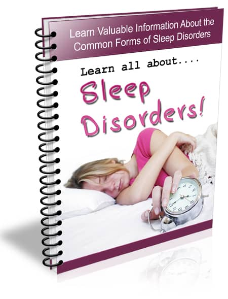 Sleep Disorders PLR Newsletter Email eCourse
