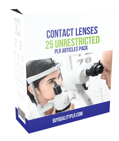 25 Unrestricted Contact Lenses PLR Articles Pack
