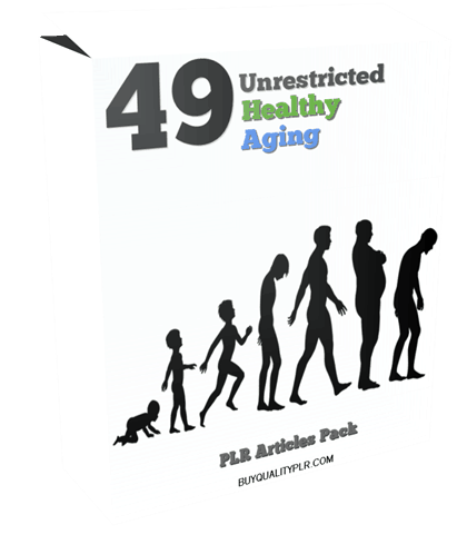 49 Unrestricted Healthy Aging PLR Articles Pack
