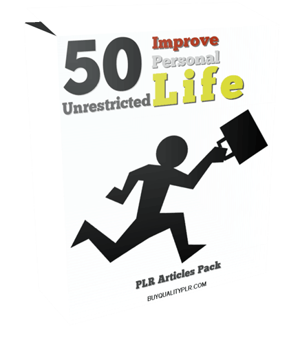 50 Unrestricted Improve Personal Life PLR Articles Pack